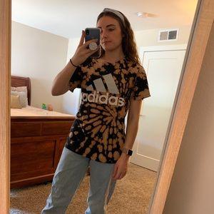 Adidas Bleached Tie Dye Tshirt